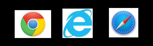 代表的なインターネットブラウザ、Chrome・Microsoft Edge・Safari